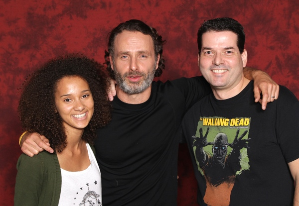 Jasmine, Andrew Lincoln and Michael at Walker Stalker Con.