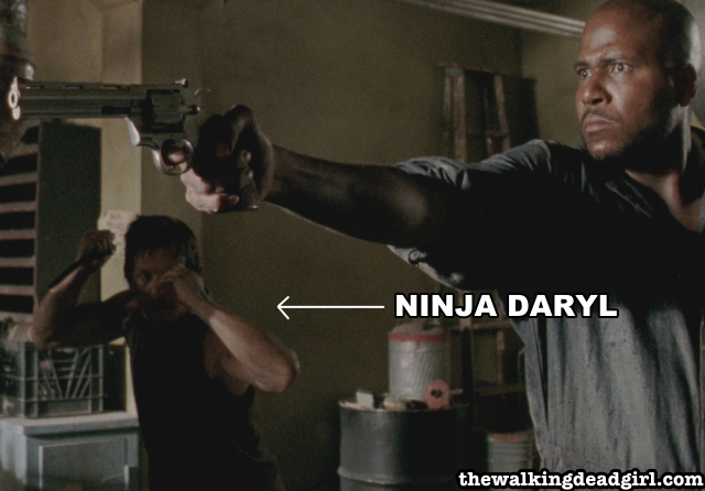 Ninja Daryl is ready for action to save Rick.