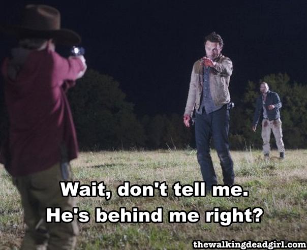 Carl shoots Walker Shane