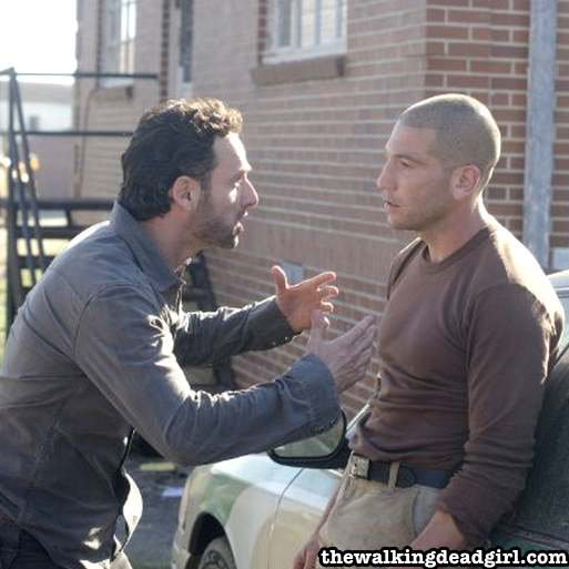 Andrew Lincoln (Rick) and Jon Bernthal (Shane)