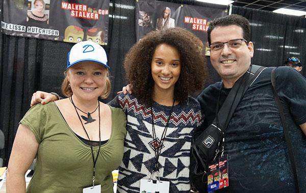 Melissa Hutchison (Clementine) with Jasmine & Michael