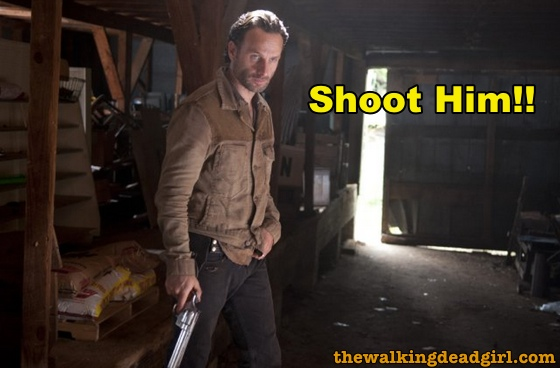 Rick hesitates and misses opportunity to kill the governor