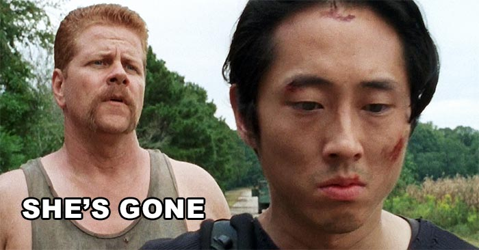 Abraham giving the sad news to Glenn