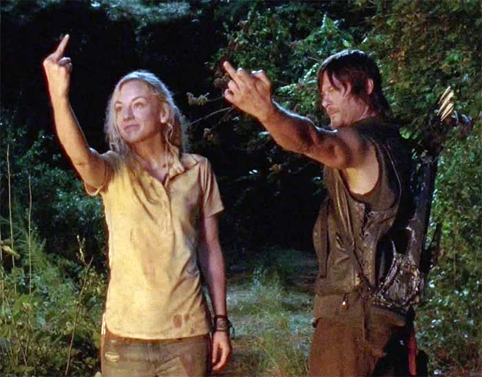 "Daryl and Beth say ""screw you"" to the past."