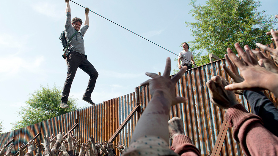 Spencer Monroe (Austin Nichols) and Rick Grimes (Andrew Lincoln) in Episode 7 - Photo by Gene Page/AMC
