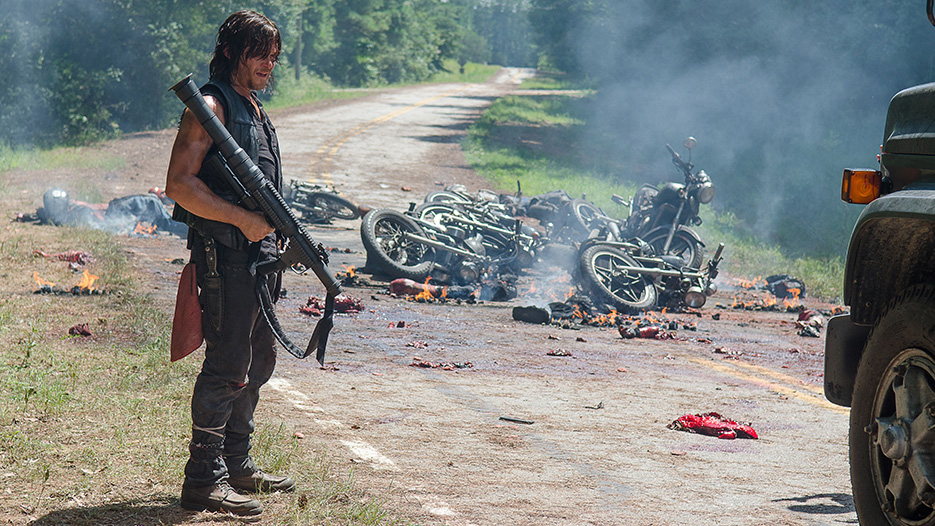 Daryl Dixon (Norman Reedus) finishes off Negan's crew in episode 609
