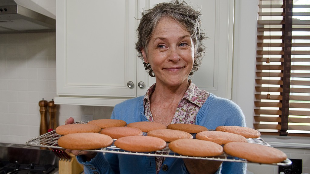 Carol makes cookies for everyone in Alexandria.