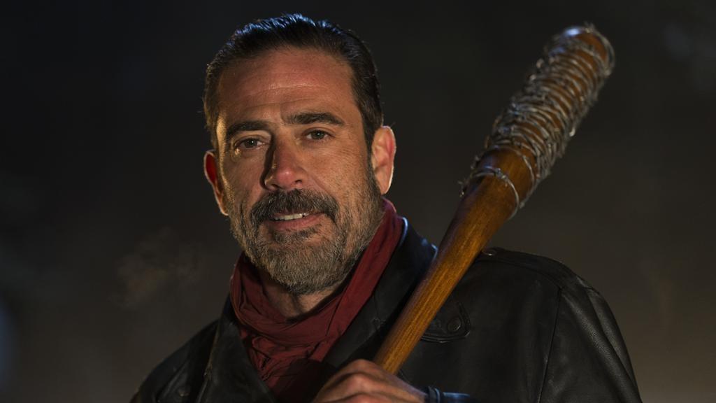 Jeffrey Dean Morgan as Negan - The Walking Dead Season 6, Episode 16 - Photo Credit: Gene Page/AMC