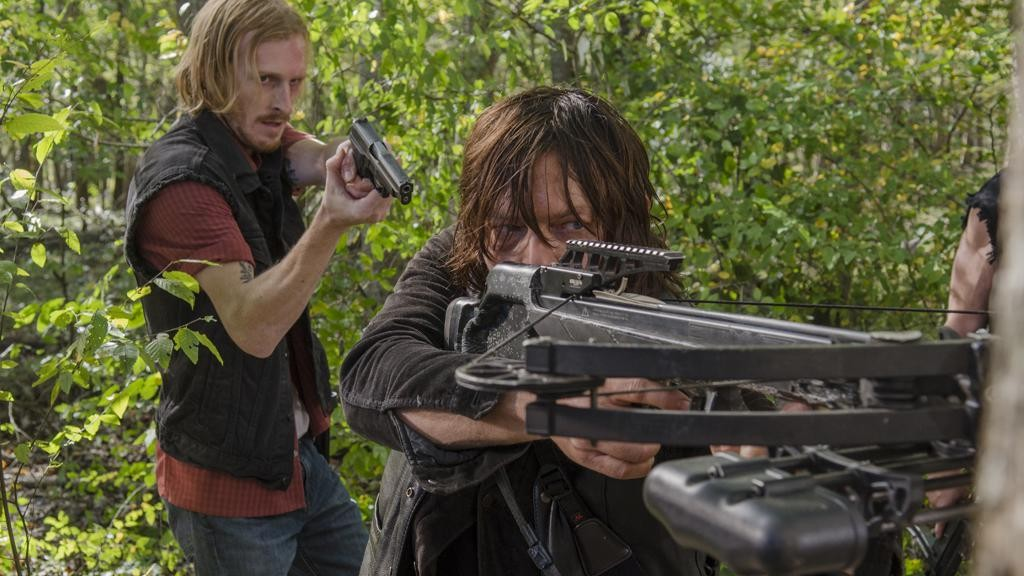 Austin Amelio as Dwight; Norman Reedus as Daryl Dixon - The Walking Dead _ Season 6, Episode 15 - Photo Credit: Gene Page/AMC