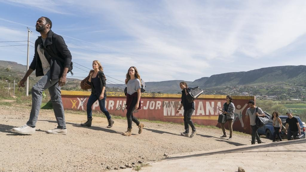 Colman Domingo as Victor Strand, Alycia Pebnam-Carey as Alicia Clark, Frank Dillane as Nick Clark, Lorenzo James Henrie as Chris Manawa, Cliff Curtis as Travis Manawa, Mercedes Mason as Ofelia Salazar, Rubén Blades as Daniel Salazar, Kim Dickens as Madison Clark; - Photo Credit: Richard Foreman, Jr/AMC