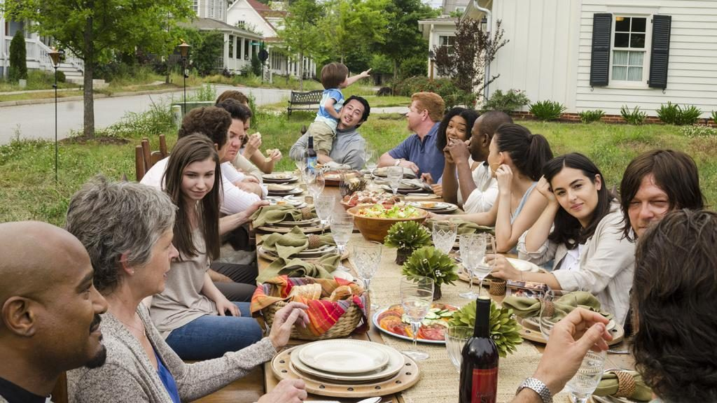 """Bet you thought you were all going to grow old together. Sitting around a table at Sunday dinner and happily ever after. It doesn't work like that anymore Rick."" - Negan"