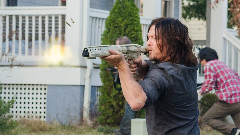 Norman Reedus as Daryl Dixon - The Walking Dead _ Season 7, Episode 16 - Photo Credit: Gene Page/AMC