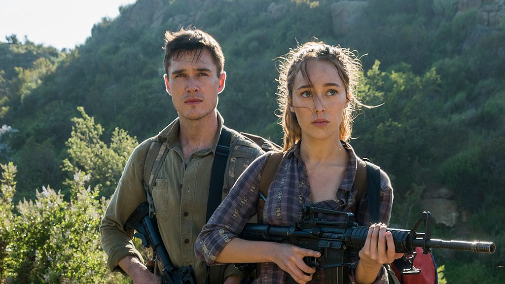 Alycia Debnam-Carey as Alicia Clark, Sam Underwood as Jake Otto - Fear the Walking Dead _ Season 3, Episode 7 - Photo Credit: Richard Foreman, Jr/AMC