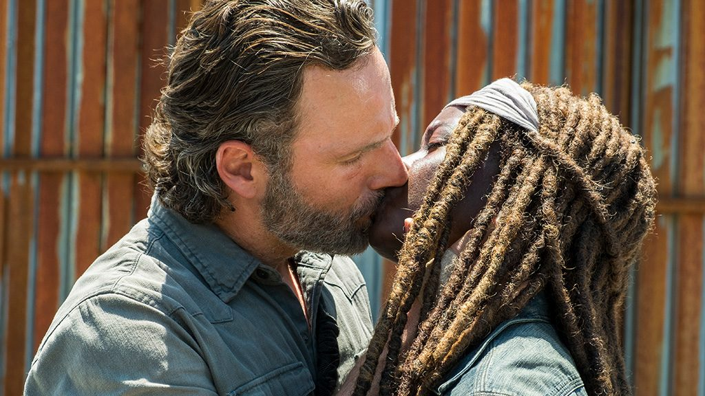 Andrew Lincoln as Rick Grimes, Danai Gurira as Michonne - The Walking Dead _ Season 8, Episode 1 - Photo Credit: Gene Page/AMC