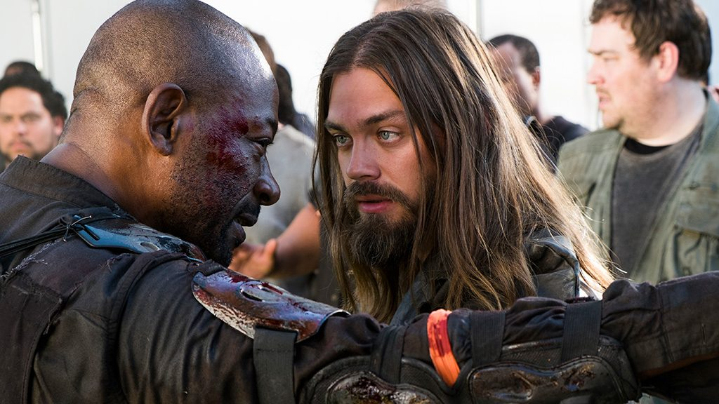 Tom Payne as Paul 'Jesus' Rovia, Lennie James as Morgan Jones - The Walking Dead _ Season 8, Episode 2 - Photo Credit: Gene Page/AMC
