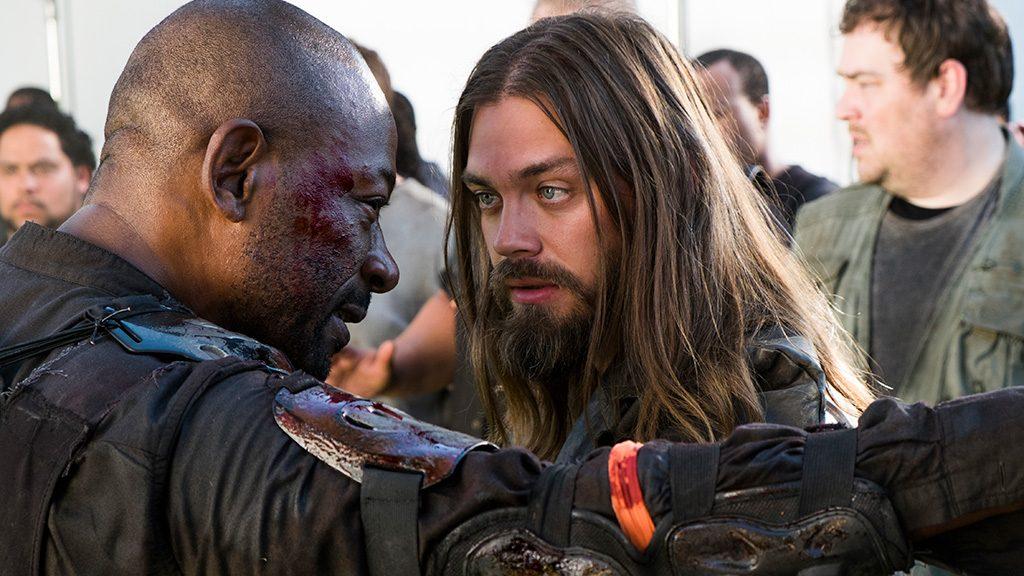 Tom Payne as Paul 'Jesus' Rovia, Lennie James as Morgan Jones - The Walking Dead _ Season 8, Episode 2 - Photo Credit: Gene Page/AMC