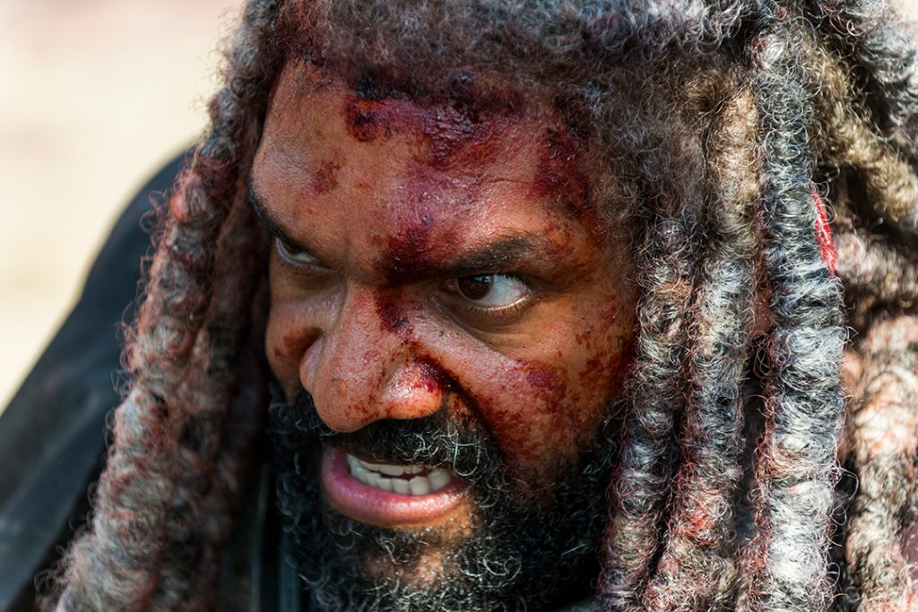 Khary Payton as Ezekiel - The Walking Dead _ Season 8, Episode 4 - Photo Credit: Gene Page/AMC