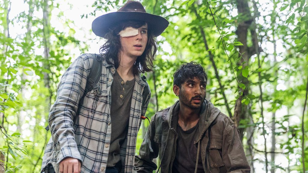 Avi Nash as Siddiq, Chandler Riggs as Carl Grimes - The Walking Dead _ Season 8, Episode 6 - Photo Credit: Jackson Lee Davis/AMC